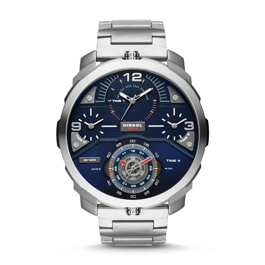 Diesel SBA Machinus – Blue Round Dial 55mm – Stainless Steel – Silver – Jam  Tangan Pria – DZ7361 b33803b4fc