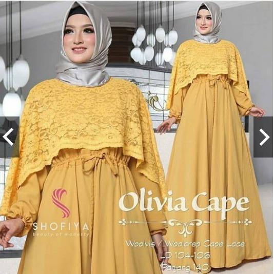 TotallyGreatShop Gamis Pesta Brukat Premium - fashion Busana Muslimah Brokat Premium - Kondangan Muslimah - Gaun Party Maxy Dress - Kebaya modern iholiviacape