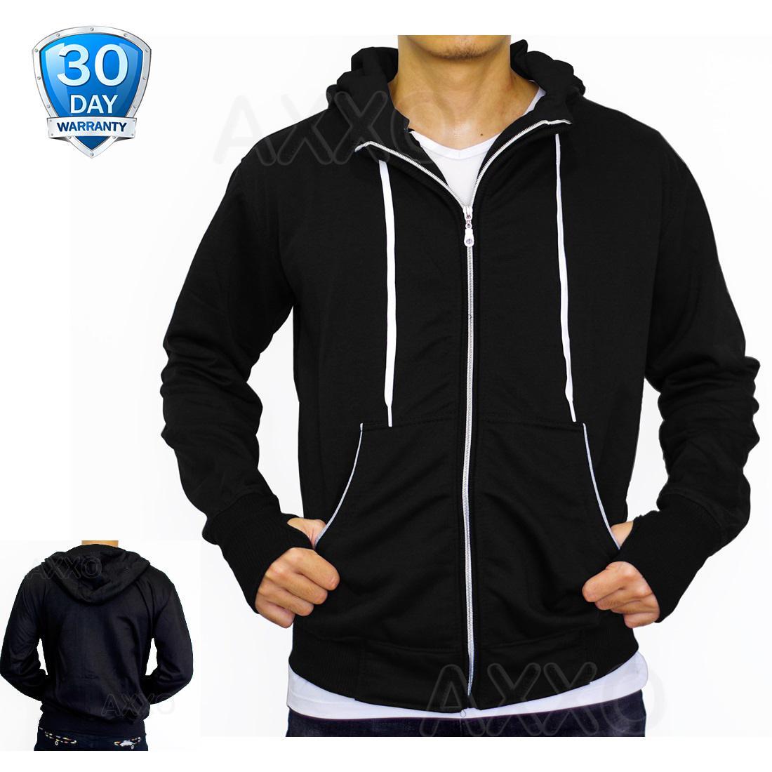 AXXO Jaket Pria Sweater Hoodie Zipper Polos Jaket Korea Jaket Suiter - Jaket Sweater Pria - AX004