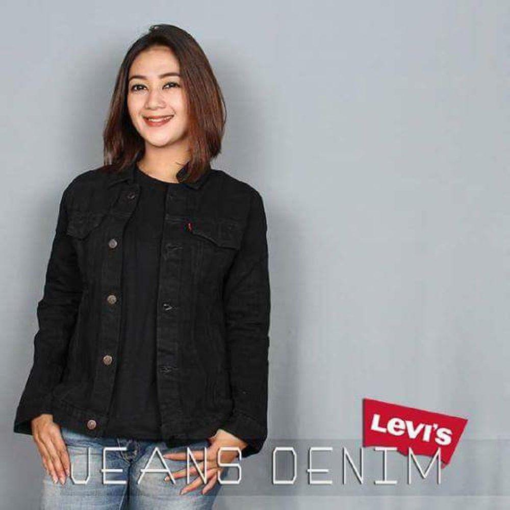 Jaket Jeans Levis Wanita Oversize Jaket Denim Wanita Premium Bahan Tebal