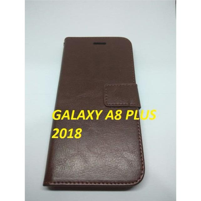 Samsung Galaxy A8 Plus 2018 Flip Leather Casing Samsung Galaxy A8 Plus Terbaru
