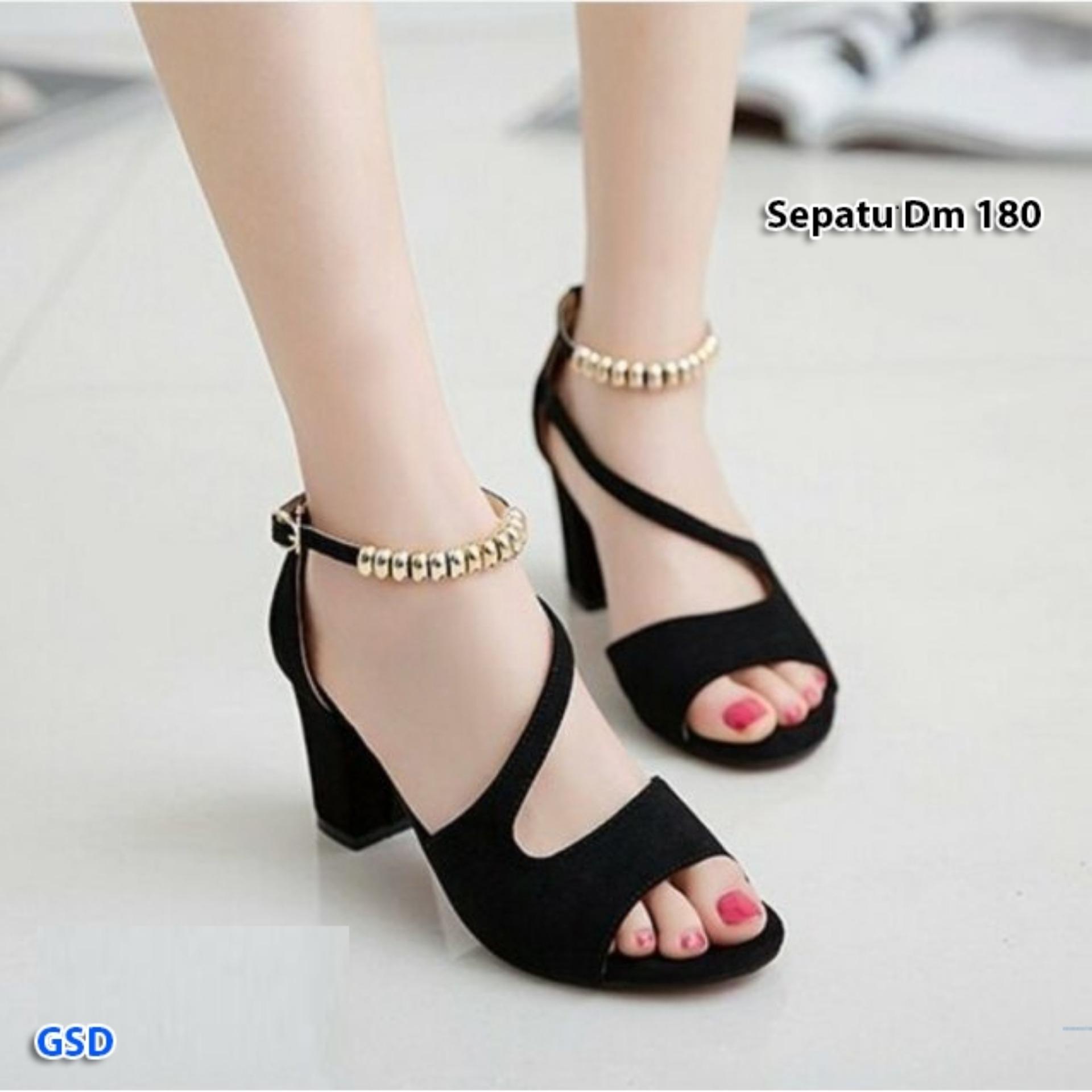 Fashion / sandal wanita / sepatu/sandal wedges / hils pesta / Sepatu Dm 180