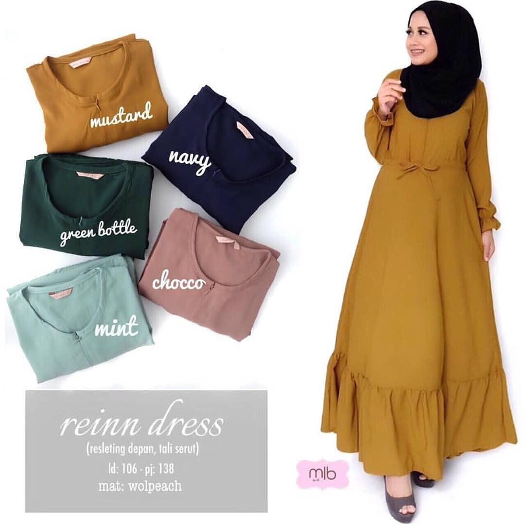 Baju Original Rein Dress Baloteli  Gamis Panjang Wanita Muslim Pakaian Cewek Gaun Hijab LongDress Fashion Terbaru 2018