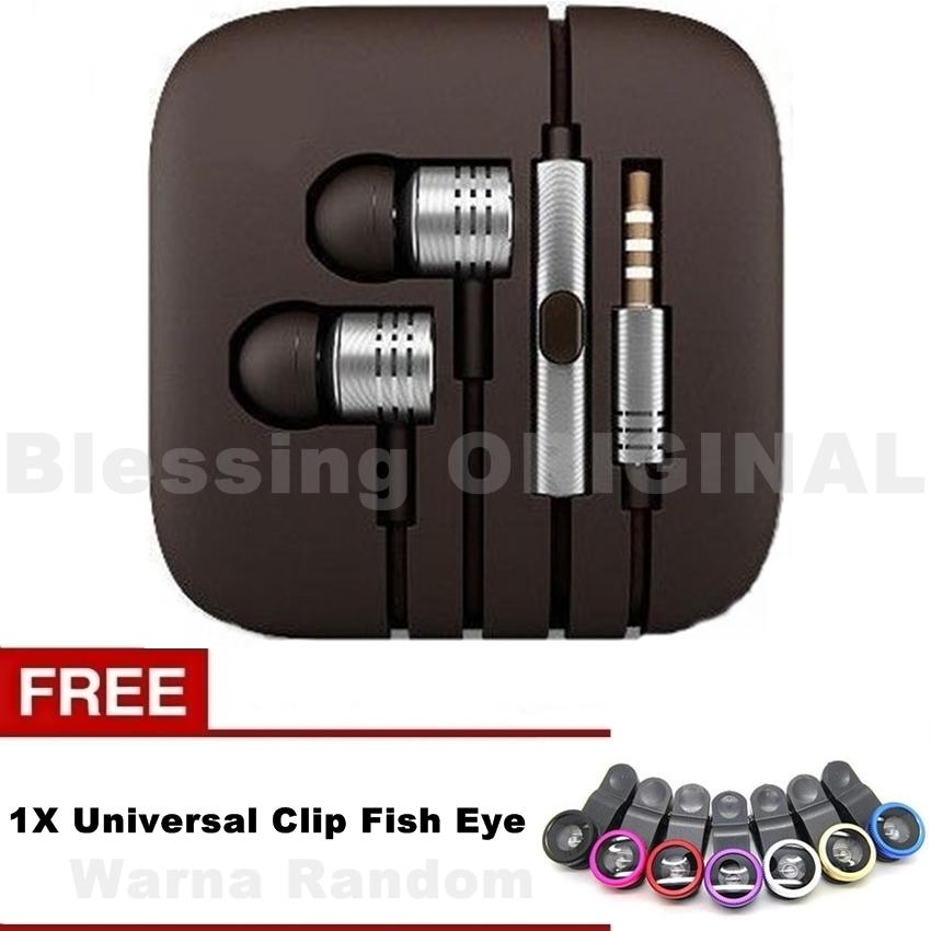 Headset blessing BO-P2 hensfree compatible for hp xiaomi headset piston 2 henset for android + Free Universal Clip Fish Eye