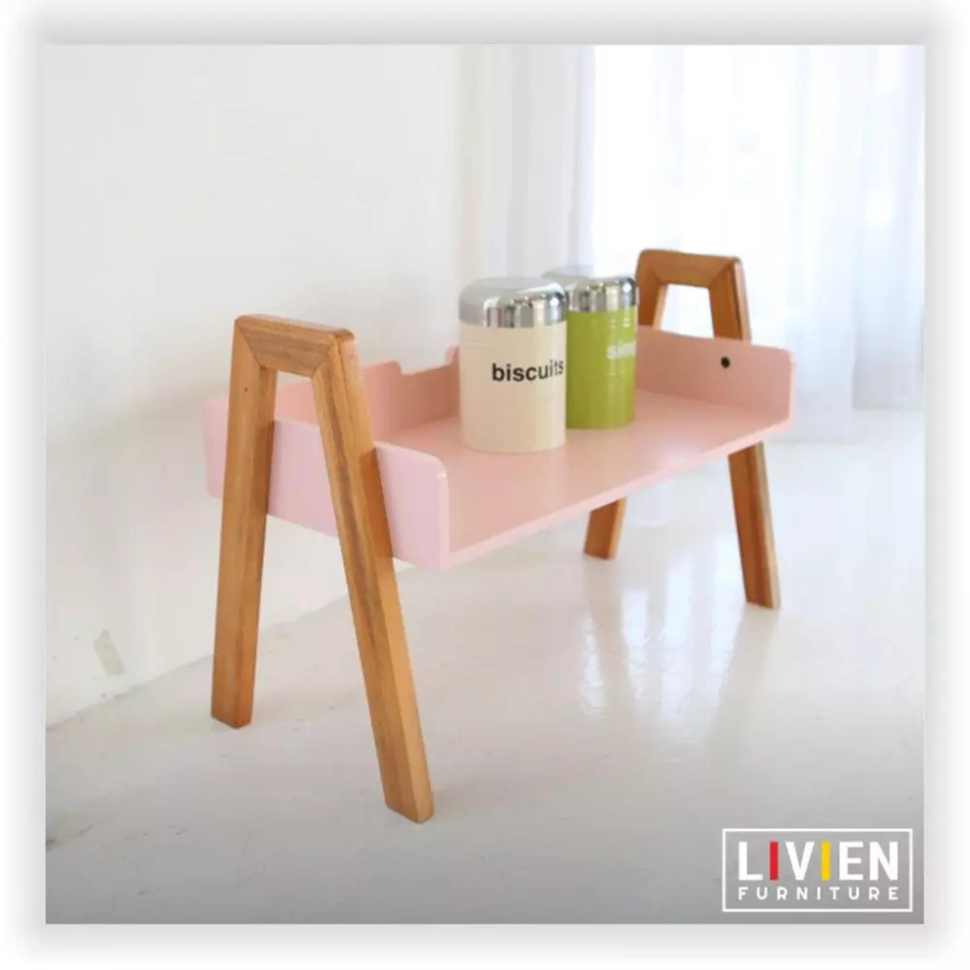 Jual Rak Susun Happiness Livien Furniture Harga Rp 355000 Barabatu Furnitur Skandinavia Kayu Jati Dekorasi Rumah Kafe