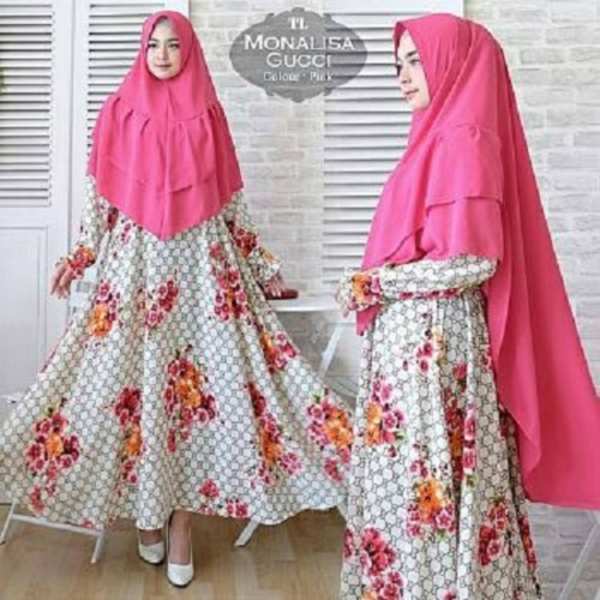 azhari shop - Gamis Wanita Syari - Gamis Muslimah Fashionable - Syari Monalisa Gucci
