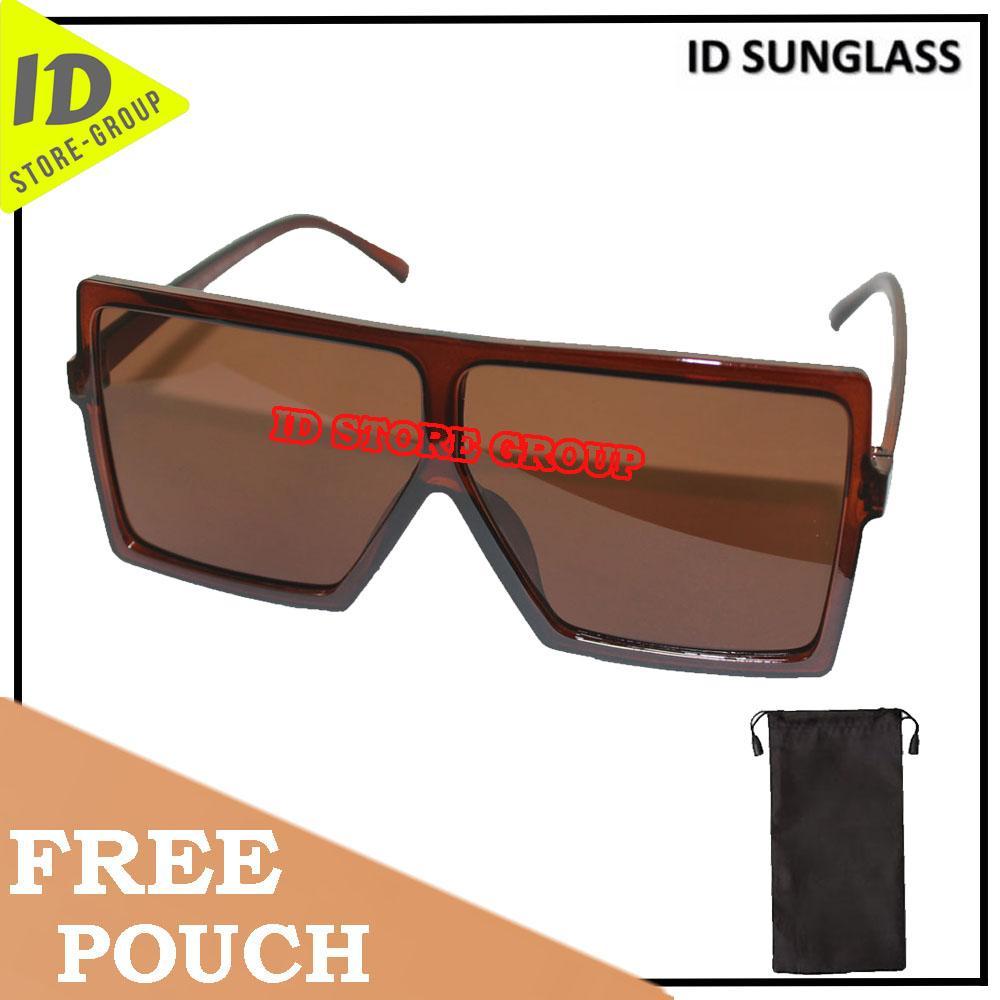 ID Sunglass - Wayfar D-Frame Pria Wanita Frame - Coklat Lensa - Coklat  SUN 1070-02