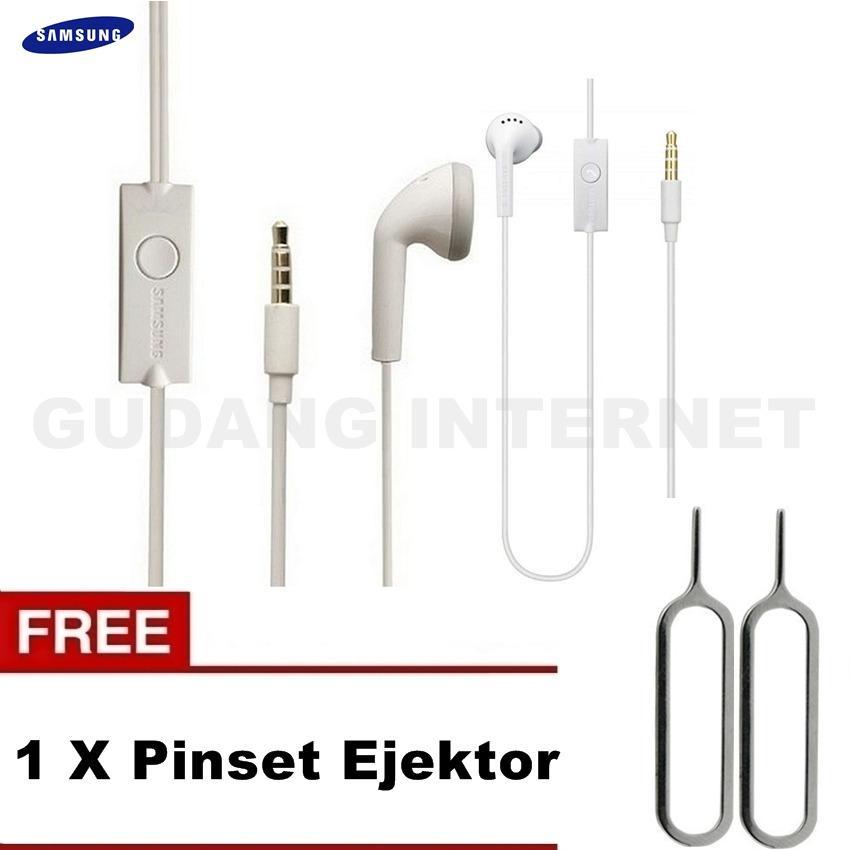 Samsung Original Handsfree GH59 Super Bass Headset Young / J1 / J2 / J3 Original- White Free Pinset
