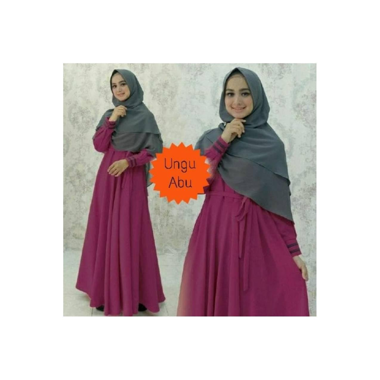 Best baju muslim pesta gamis yunmina aneka warna 2 dress maxi hijab