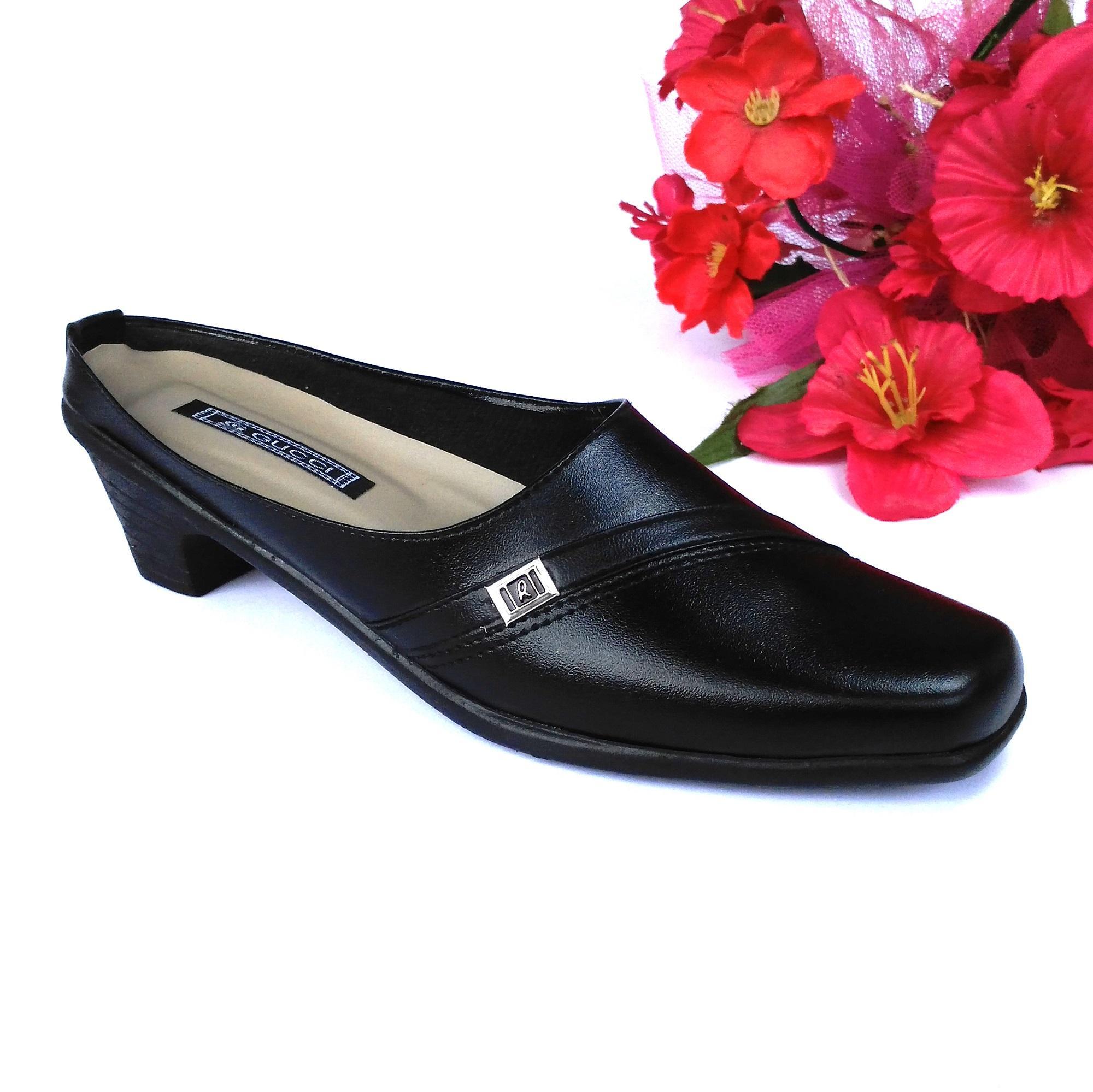HQo Sepatu Pantofel Wanita / Sepatu Wanita Formal / Sepatu Pantofel Paskibra Wanita Bertali / Sepatu Kerja Wanita / Sepatu Kantor Wanita / Sepatu Kulit Wanita / Sepatu Sekolah Anak Wanita Hitam / SCO