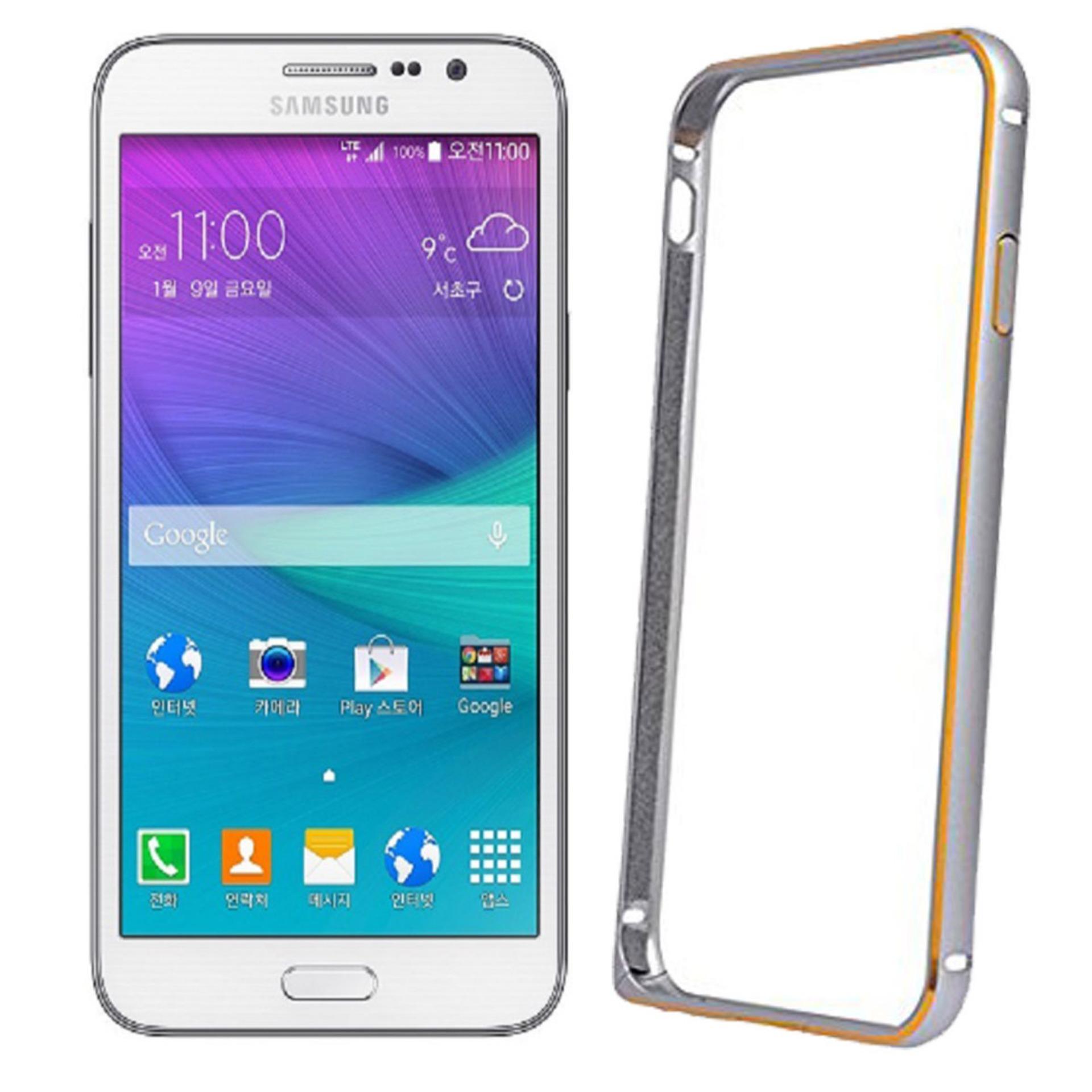 Aluminium Bumper Stainless Metal Bezel List for Samsung Galaxy Grand Max / G720 / G7202 / G7202D / LTE Duos - Silver