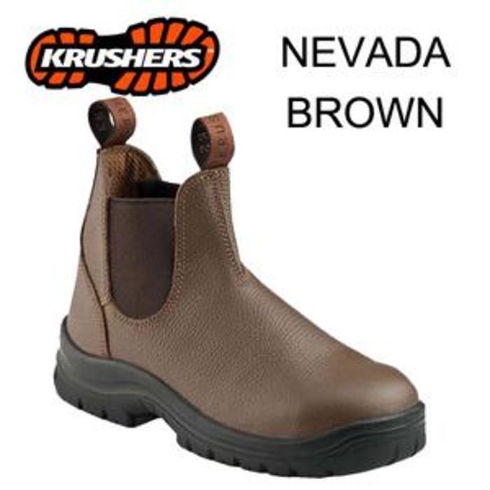 Promo Safety Shoes Krusher Nevada Brown Gratis Ongkir