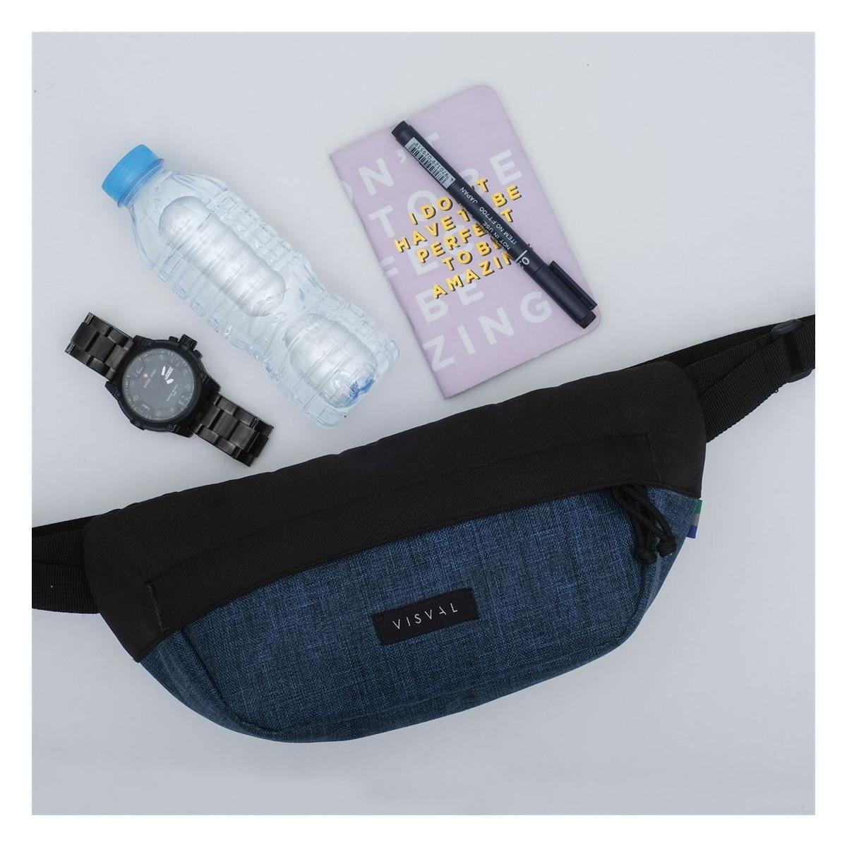 PACER WAIST BAG CORAL BLUE BLACK | VISVAL WAIST BAG - TAS PINGGANG VISVAL