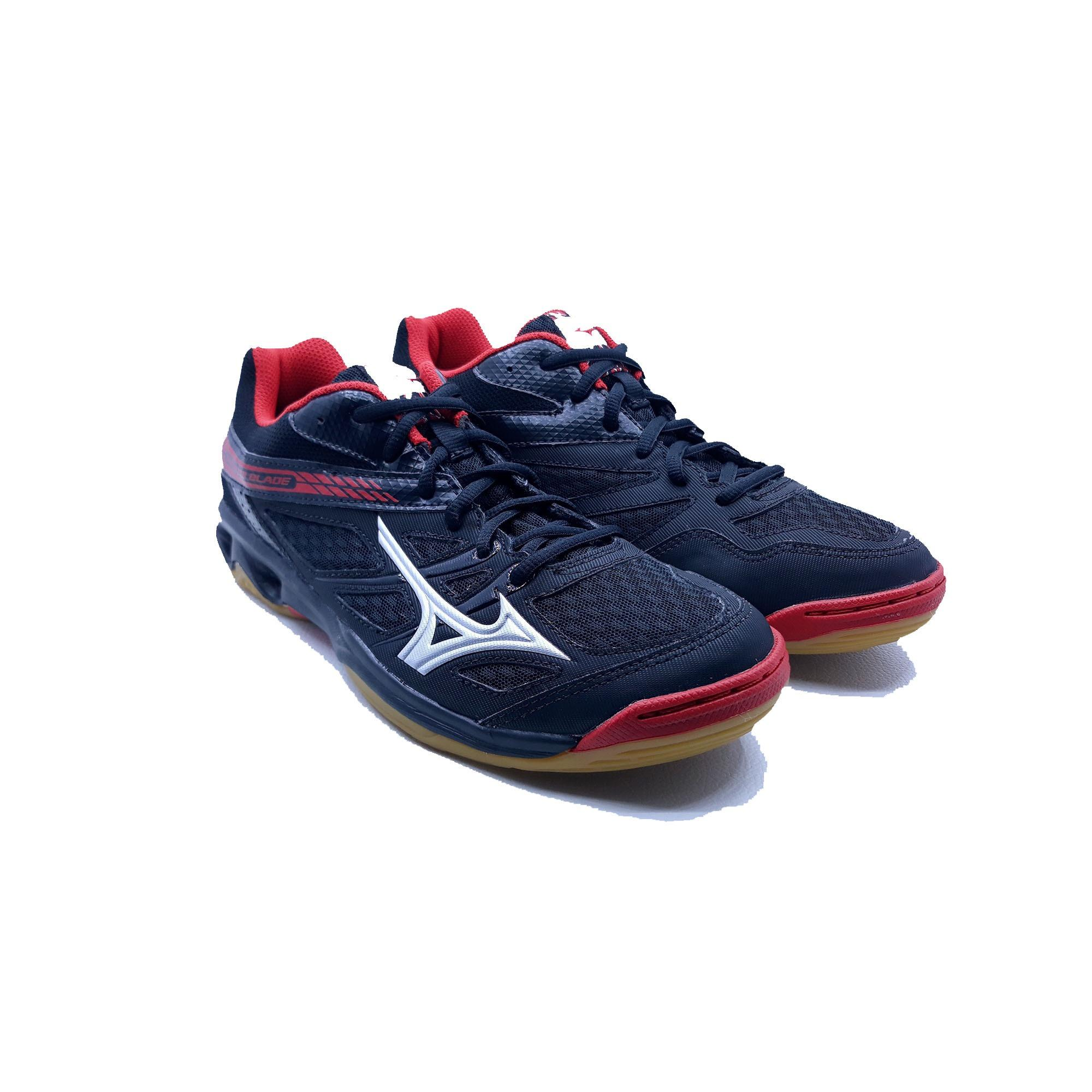 Sepatu Olahraga Volly Mizuno Thunder Blade - Black Silver Red 61b8af30e9