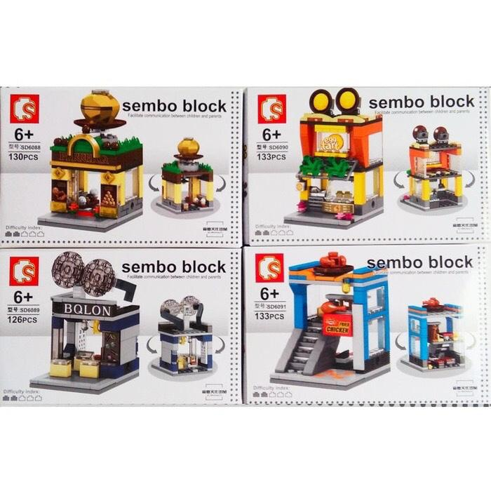 Terbaru!! Sembo Block Sd 6088 Ferrero Sd6089 Bolon Sd 6090 Egg Tart Sd6091 Korea - ready stock