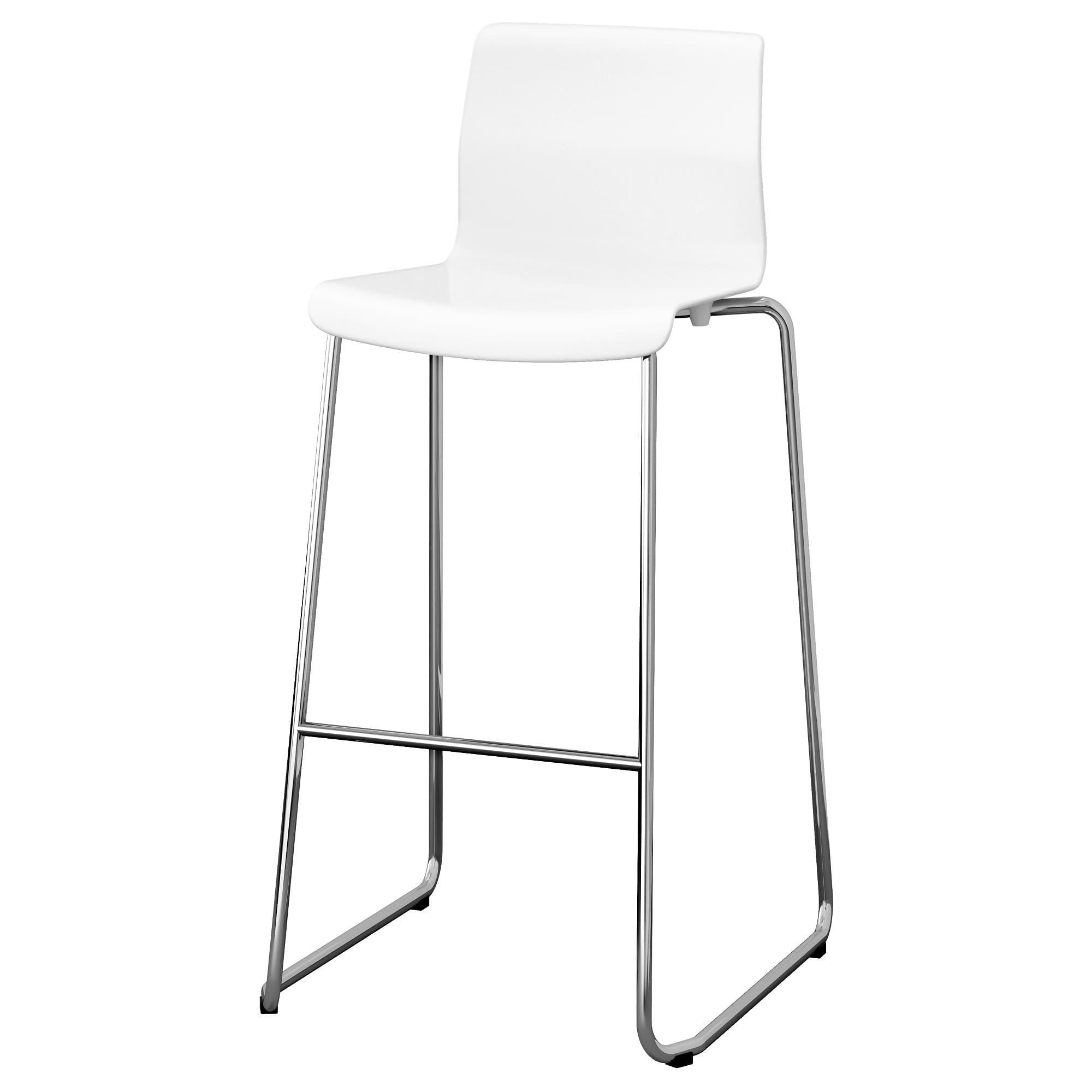 PROMO!! IKEA GLENN Kursi bar, putih, dilapisi krom MURAH /  BUBBLE 3 LAPIS / ORIGINAL / IKEA ORIGINAL