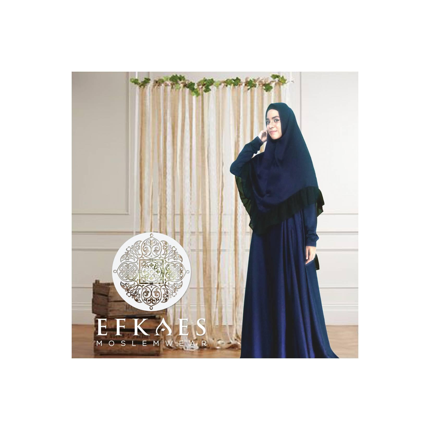 Set Gamis Ayeesha Seriess Navy