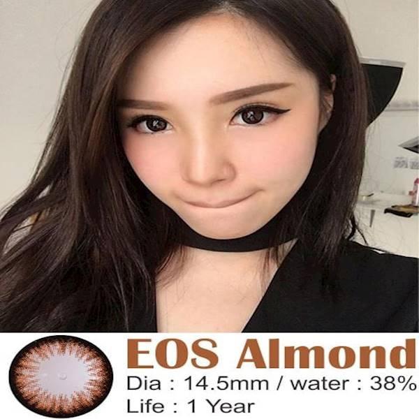Promo  Softlens EOS Almond Brown (Coklat)