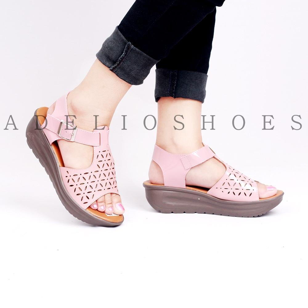 Adelioshoes- sepatu wedges wanita leser adl 1187 salem