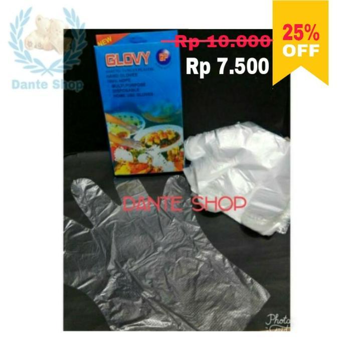 HOT SPESIAL!!! Sarung Tangan Plastik ( 100 pcs ) - d4JIbJ