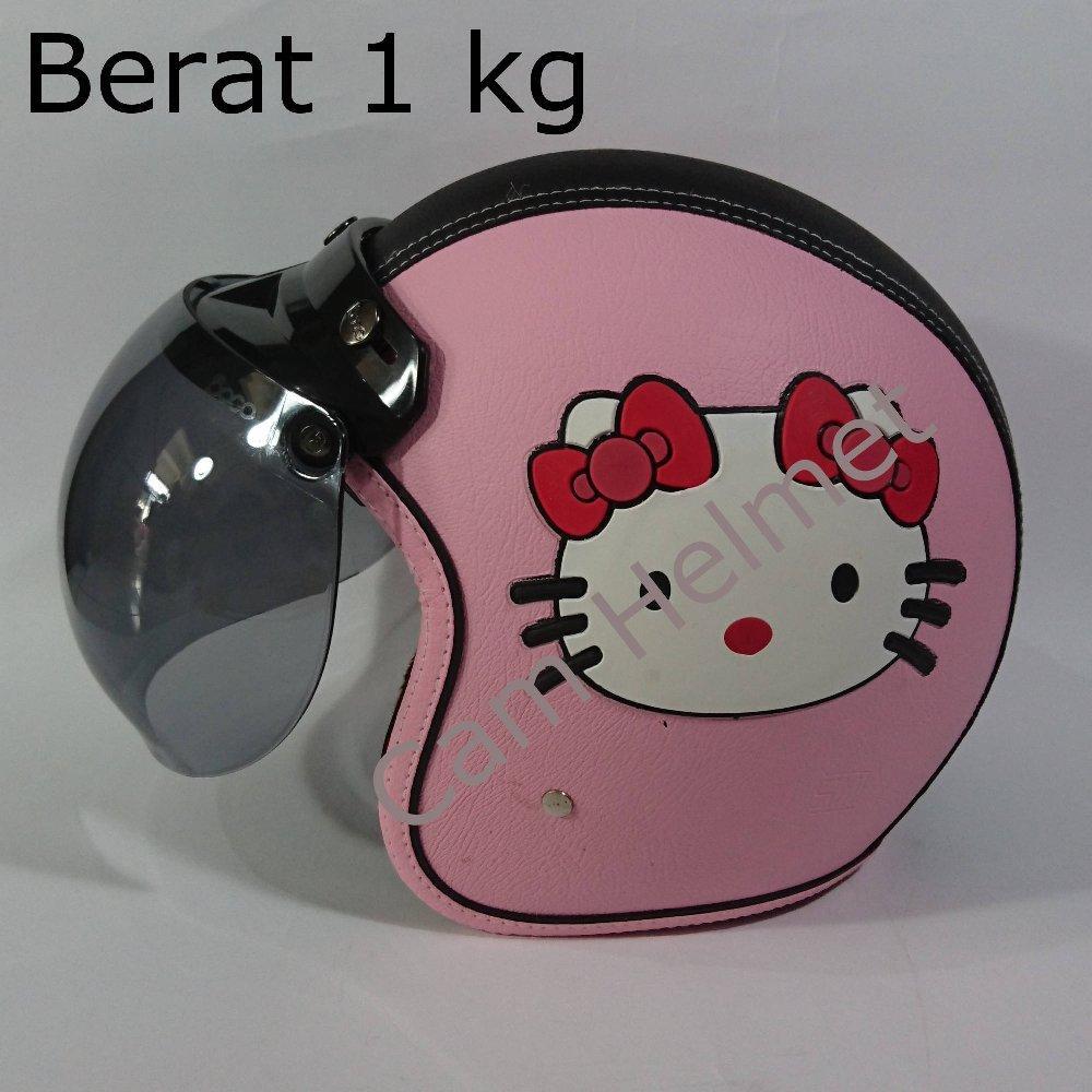 Helm Bogo Kulit Hello Kitty Pink Dengan kaca bogo Original di lapak Cam Helmet cam_helmet