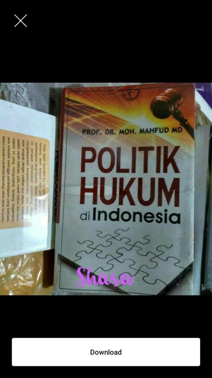 Buku Politik Hukum Di Indonesia - ready stock
