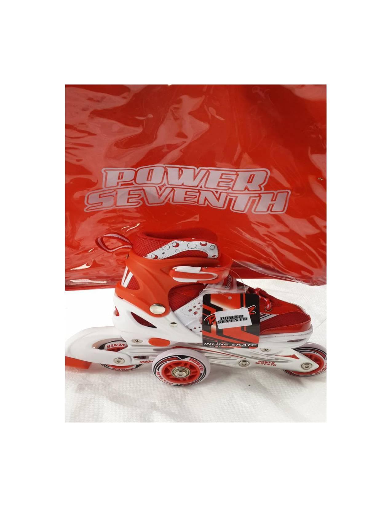 Jual Sepatu Roda/ Inline Skate Jahit Bajaj Power Seventh Merah Unik