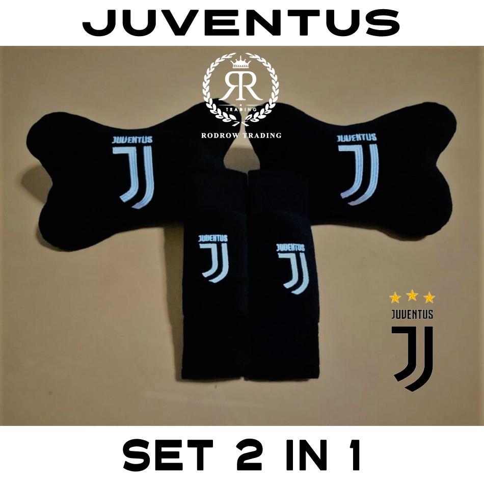 Bantal Mobil Juventus Set 2 in 1 / Bantal Jok Mobil Juventus Set 2 in 1