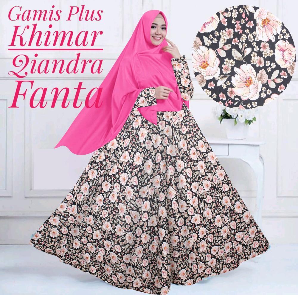Gamis Plus Khimar Qiandra  di lapak Toko Kembar Tanah Abang rinymangiwa