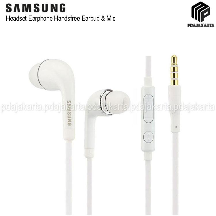 Samsung Headset J5/S4 Earphone Handsfree Headphone Earbud & Mic - OEM