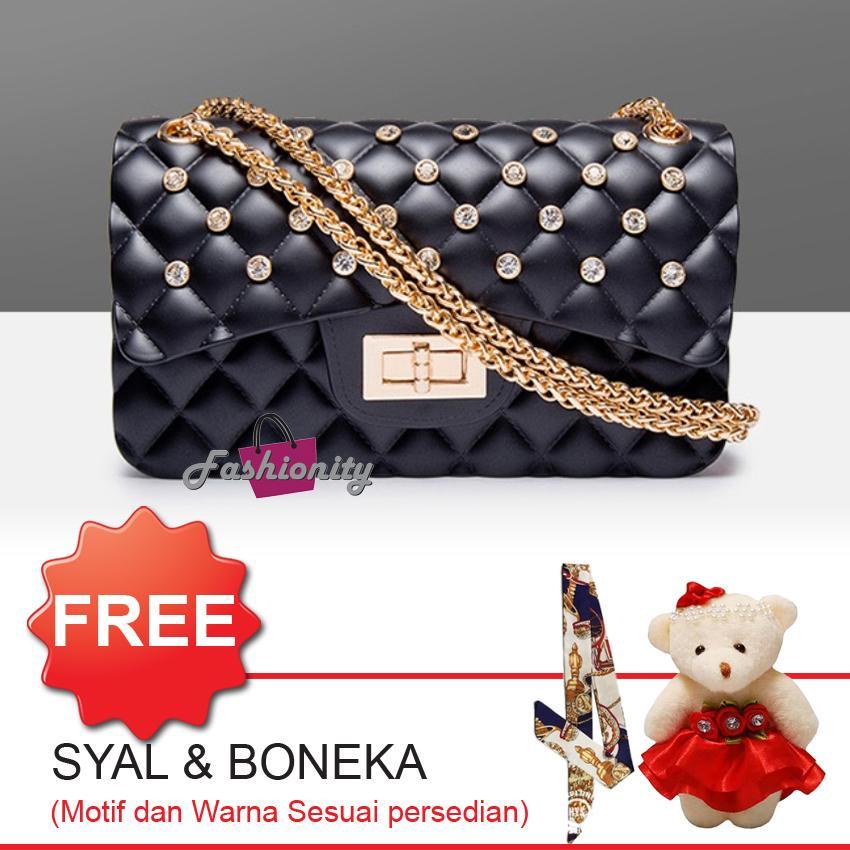 Fashionity Mini Matte Jelly Bag FSY0500DMD - Tas Selempang - Jelly Crossbody - Tas Wanita