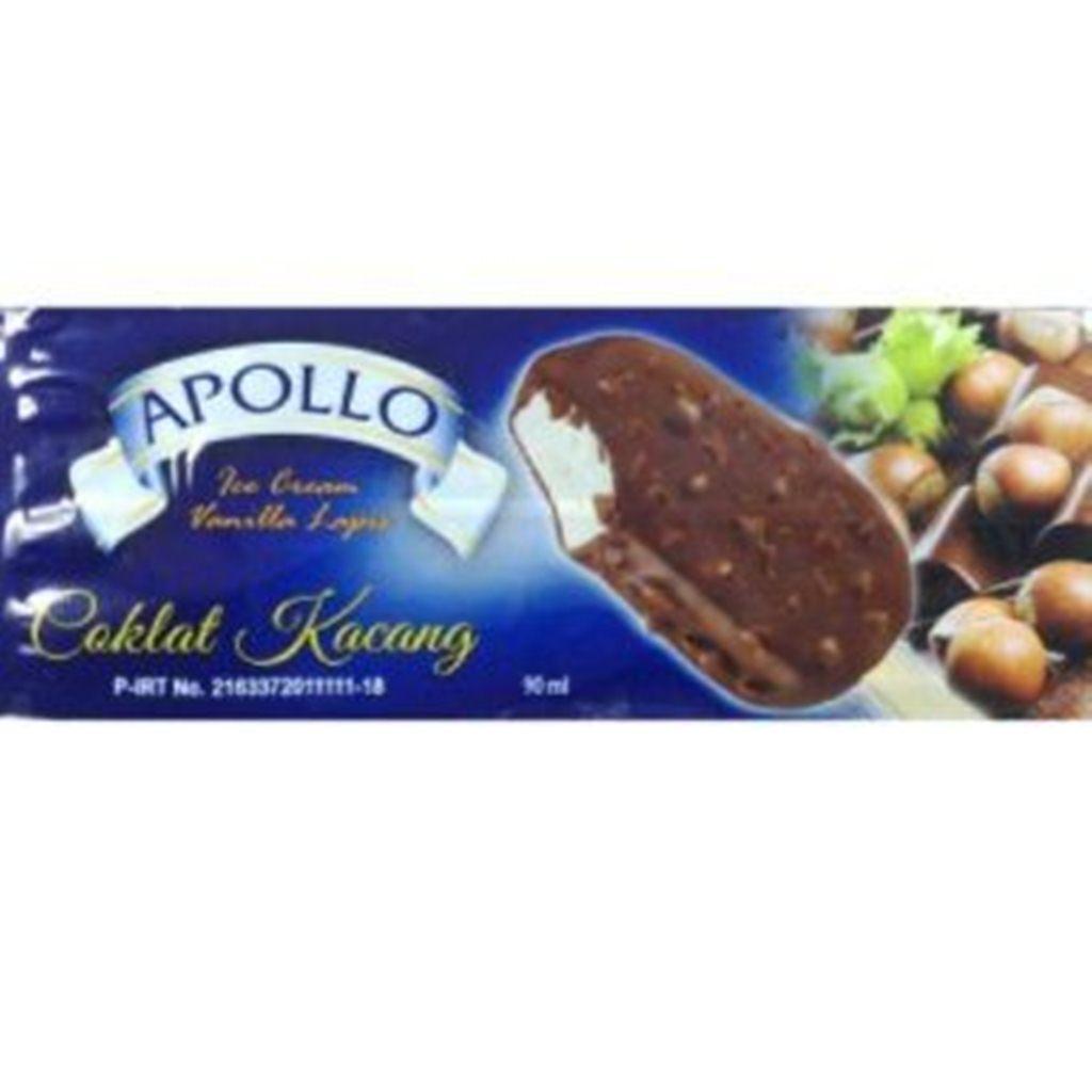jual plastik es krim stik kemasan  krim Apollo Vanilla lapis Coklat Kacang