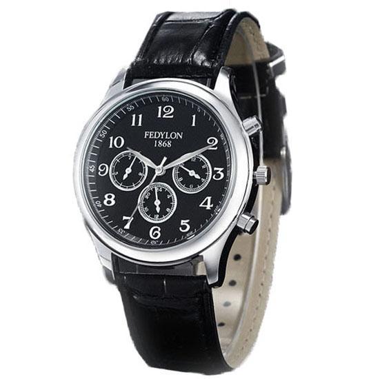 Ormano Jam Tangan Pria Freddy Maskulin Watch Strap Leather - Hitam