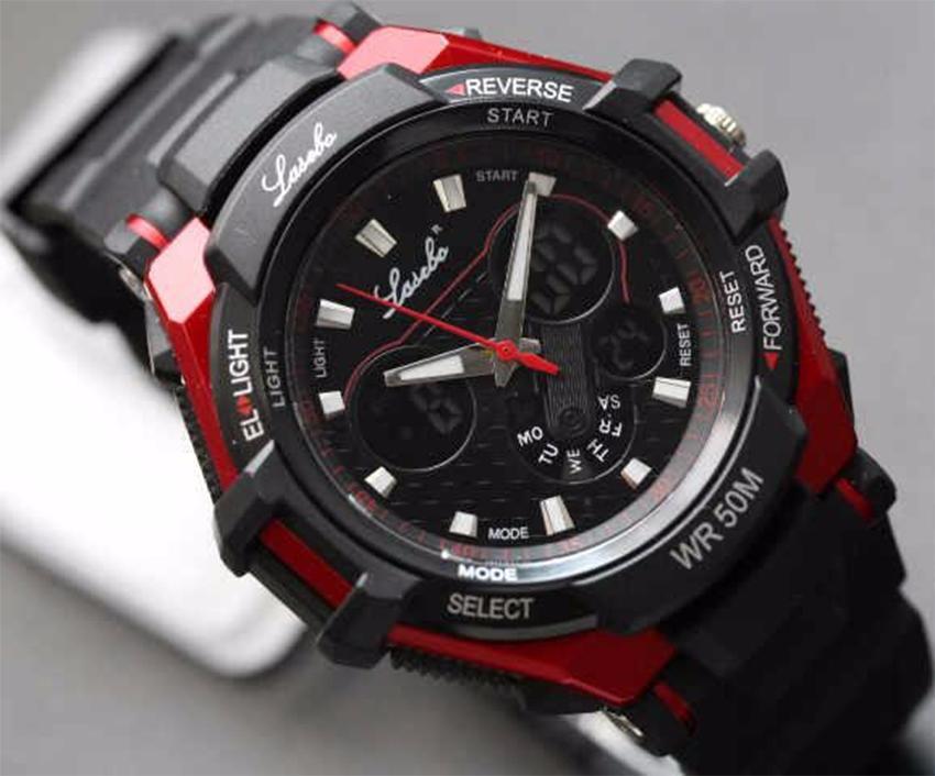 Lasebo - Dual Time - Jam Tangan Sport Pria - Rubber Strap LSB-6571A 1bc660538c