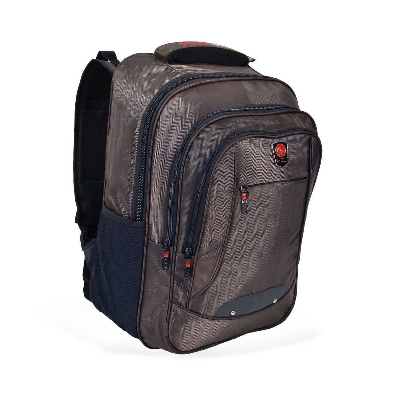 Polo Enter Backpack Tas Ransel Pria 18/ Inchi 4014 -18 ZV Coffee Polyester Nylon Original + Raincover