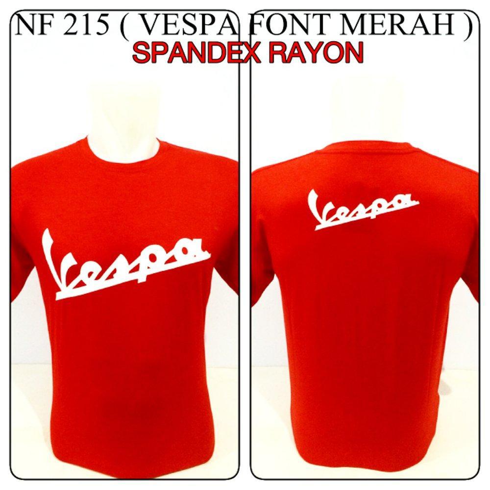 kaos spandex merah motor vespa font baju distro shirt reggae rasta di lapak Zuperone mart superone