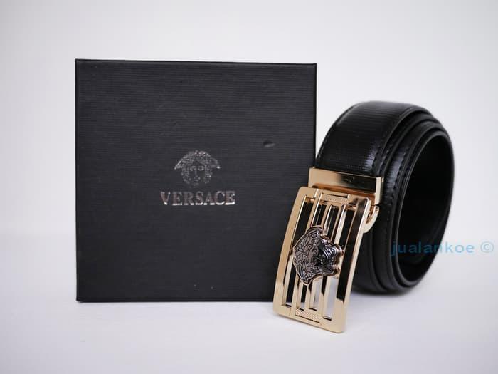 Best Seller!! Ikat Pinggang Kulit Pria Versace Ct112G - ready stock