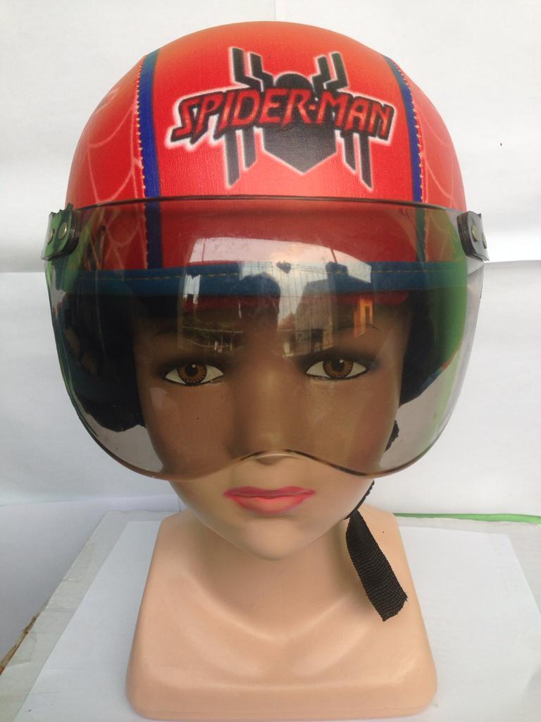 helm yg bikin gokil keren abis usia 1-5 tahun+kaca/spederman printing