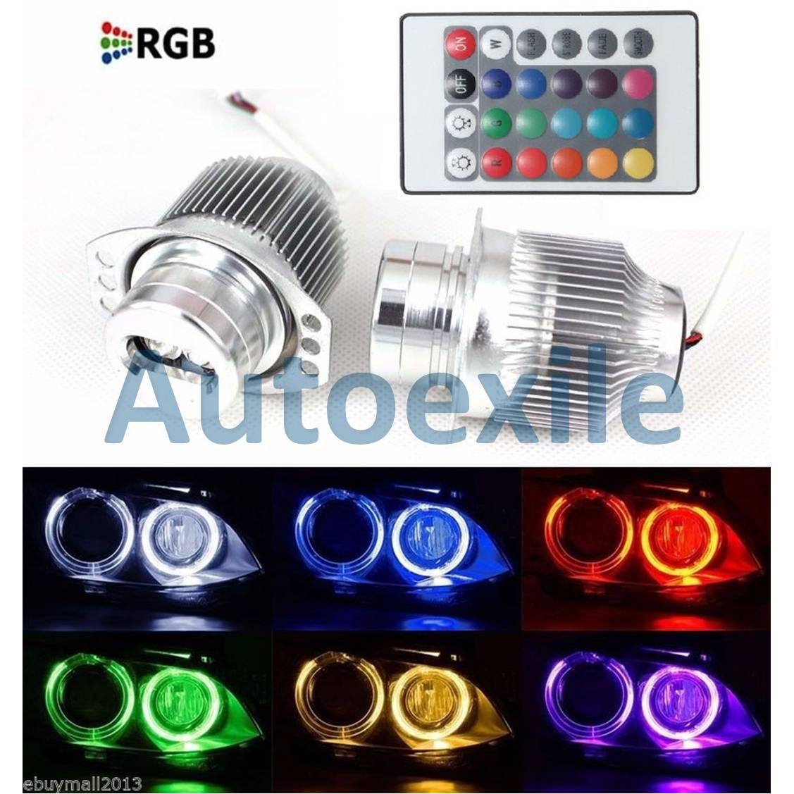 Angel Eyes LED RGB Lampu Bimmer Warna Warni Khusus Mobil BMW E90 E91 2005-2008, 3 Series LCI 2009