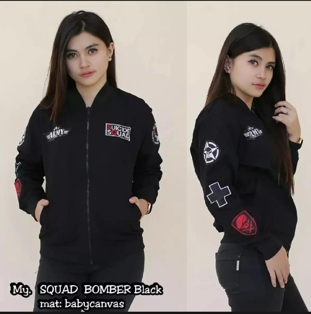 SUICIDE SQUAD BOMBER - JAKET BOMBER WANITA - CASUAL AND FASHIONABLE