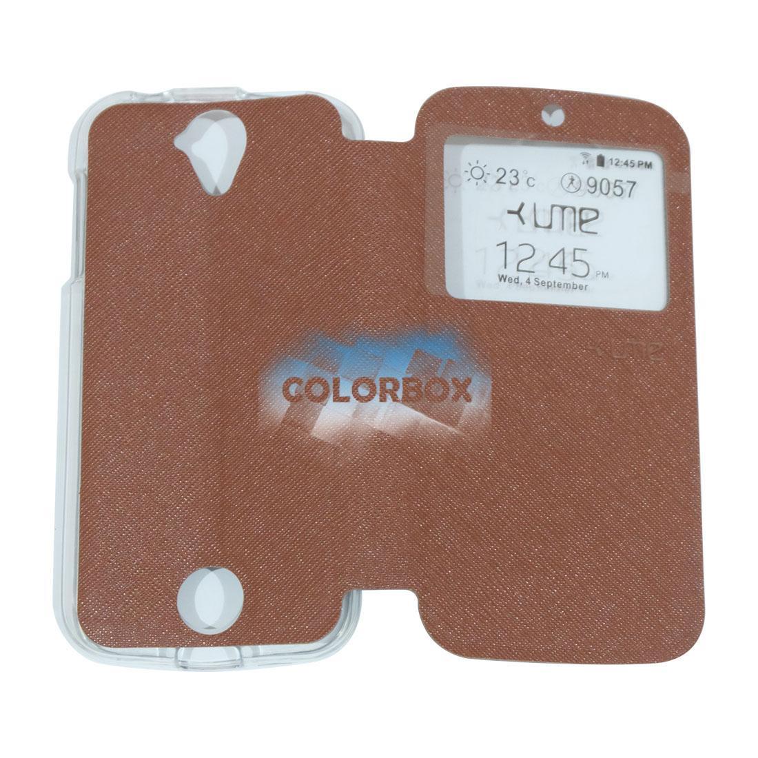 Ume Flip Leather Phone Cover Acer Liquid Z320 / Acer Z330 Ukuran 4.5 Inch Sarung Case / Flipshell A