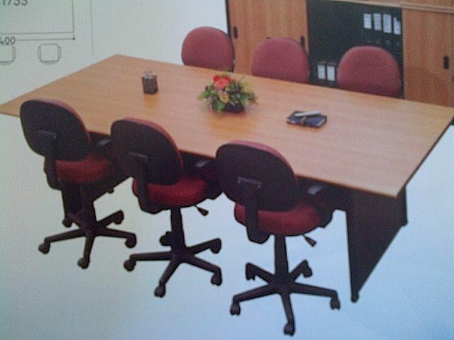 Promo  Meja meeting UNO 180x90 meja rapat kotak meja kantor beech murah  Original