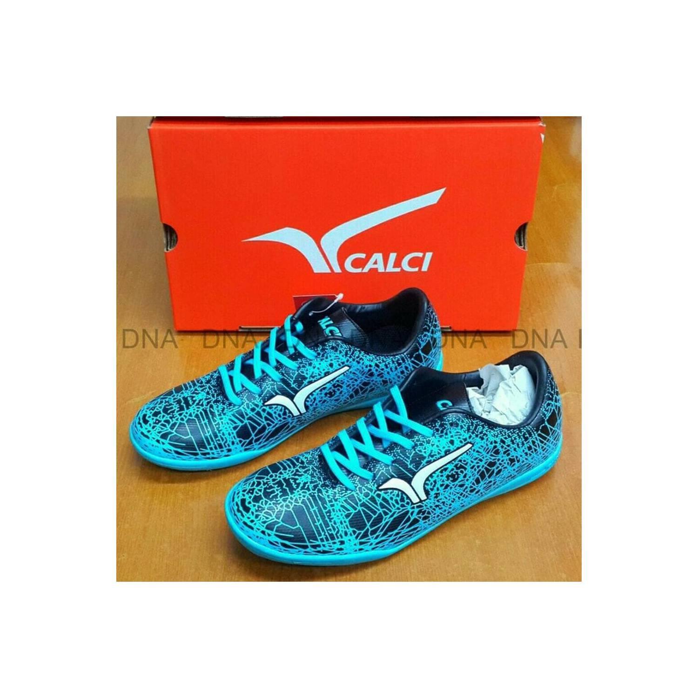 Sepatu futsal anak CALCI GRUNGE jr Cyan blue Diskon