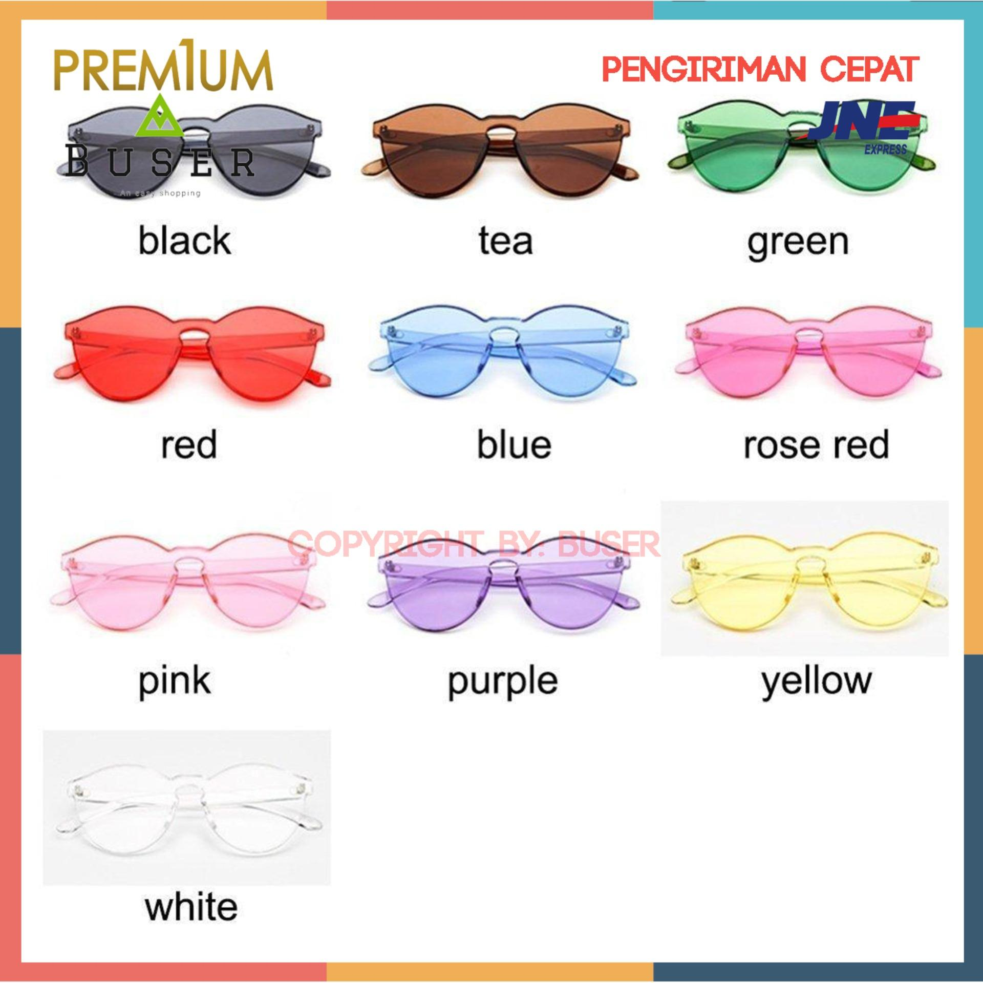 Kacamata jelly Korea sunglasses - Female Frameless Bening Kopel Lensa Berwarna-Warni Paling Trendi Kacamata - kacamata korea - kacamata buser