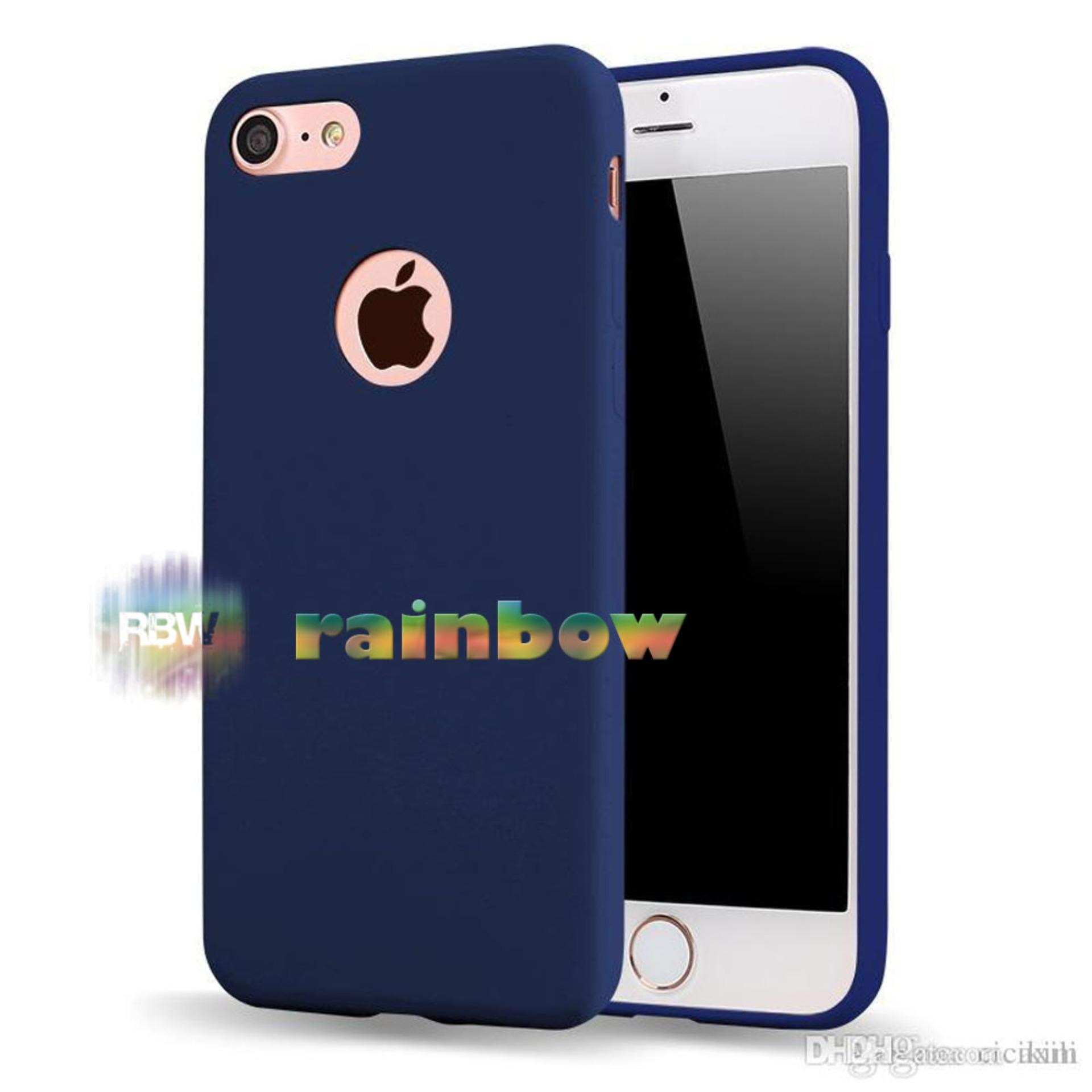 Lize Apple Iphone6 / Iphone 6 / Iphone 6G / Iphone 6S Ori Ukuran 4.7 inch / Softshell / Jelly Case / Soft Case / Soft Back Case / Silicone / Silicon / Silikon / Case Iphone / Case HP / Casing Handphone Iphone 6 - Biru Tua