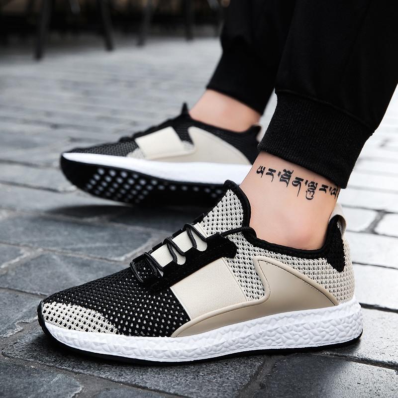 Populer Pria Sepatu Lari Sepatu Olahraga Bernapas Sepatu Olahraga Berkualitas Tinggi Shockproof Men's Running Shoes Breathable