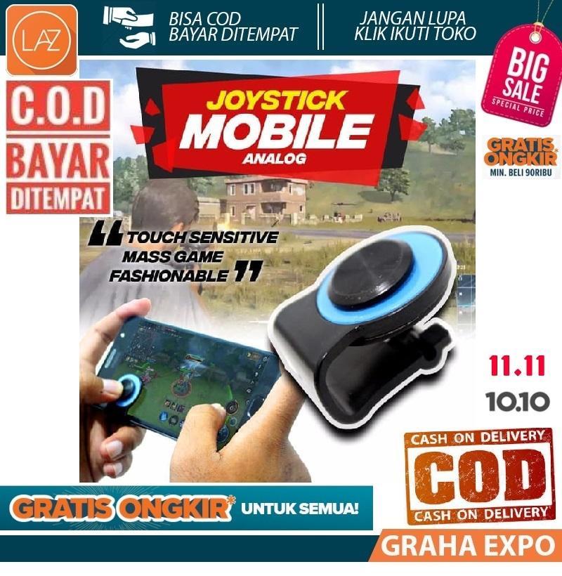 Bisa COD Big Promo Joystick Mini Mobile Legends PUBG Mata Kucing JoyStik Untuk Semua Jenis SmartPhone HP Accesories Game Gaming Laz COD Graha Expo