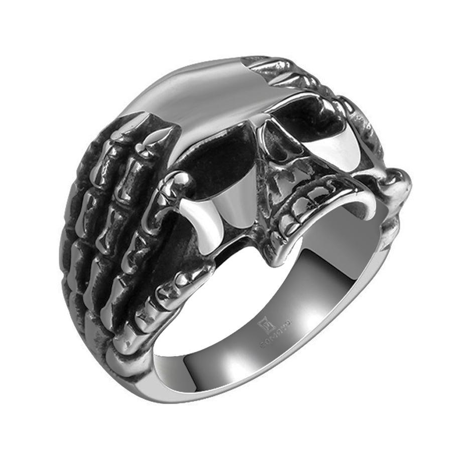 NEW Promo Perhiasan cincin tengkorak titanium skullring jakarta lick_buymore small camuri Murah