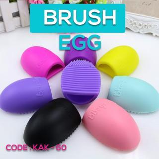 BRUSH EGG - Pembersih Kuas - Egg Brush - Alat Pencuci Kuas - Make Up Brush - KAK-85 thumbnail