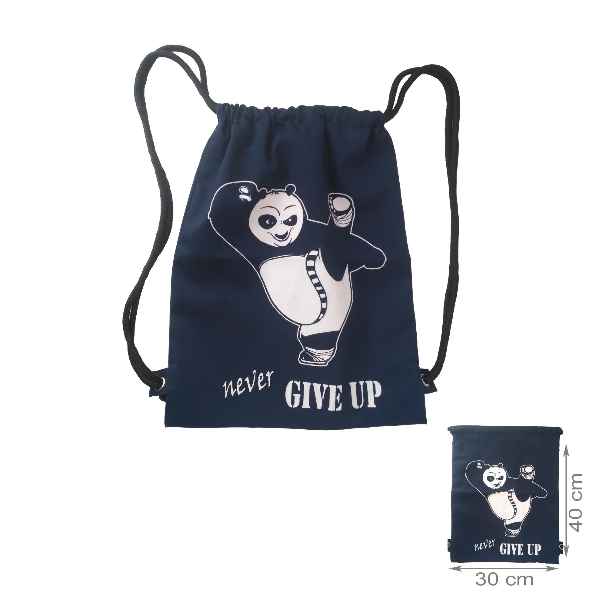 tas ransel stringbag / string bag / tas serut - Never Give Up